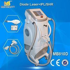 الصين الألم الحرة SHR + الشعيرات + الترددات اللاسلكية ليزر اشباه الموصلات إزالة الشعر آلة اللون الأبيض المزود